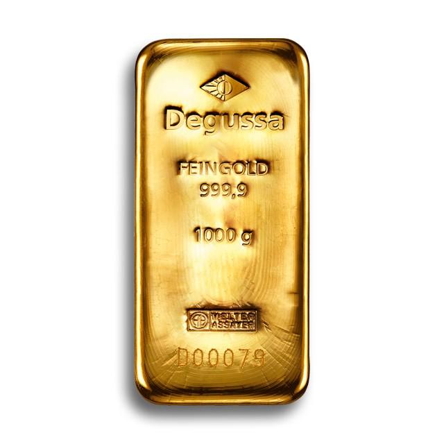 degussa metales preciosos 1kg barras de ora