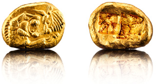 Degussa lydian moneda de oro