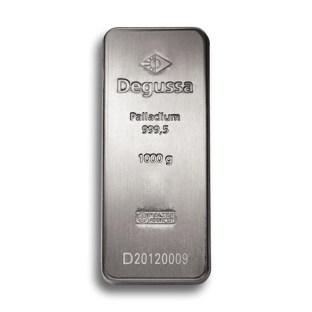 Degussa Metales Preciosos barras de paladio