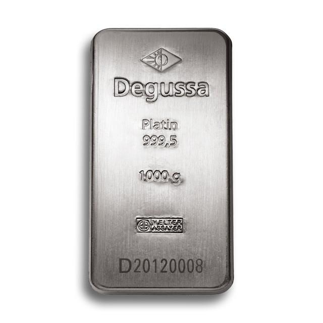 Degussa Metales Preciosos barras de platino