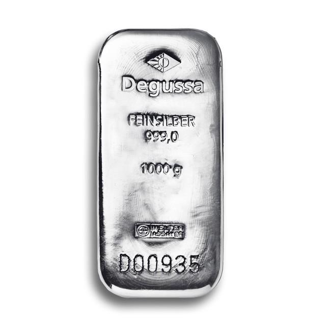 Degussa Metales Preciosos barras de plata